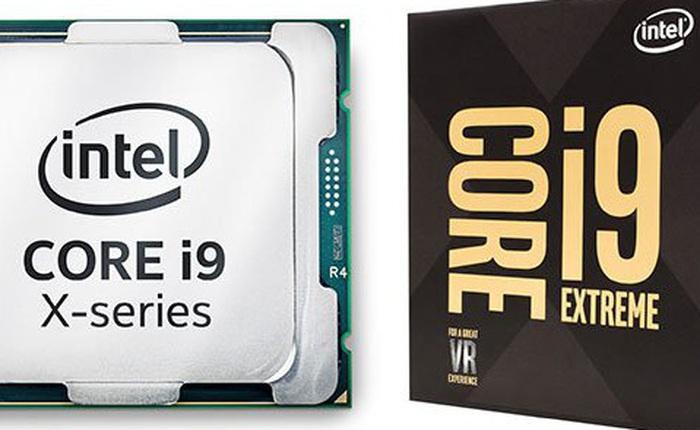 Intel bắt đầu nhận đặt hàng các mẫu cao cấp của dòng vi xử lý Core X, bao gồm cả Core i9-7980XE 18 lõi