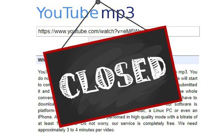 Youtube-MP3, site cho chuyển video YouTube sang file mp3 buộc phải đóng cửa