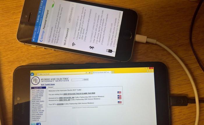 Lumia 640 chạy Windows RT có thể kết nối internet một cách hoàn hảo