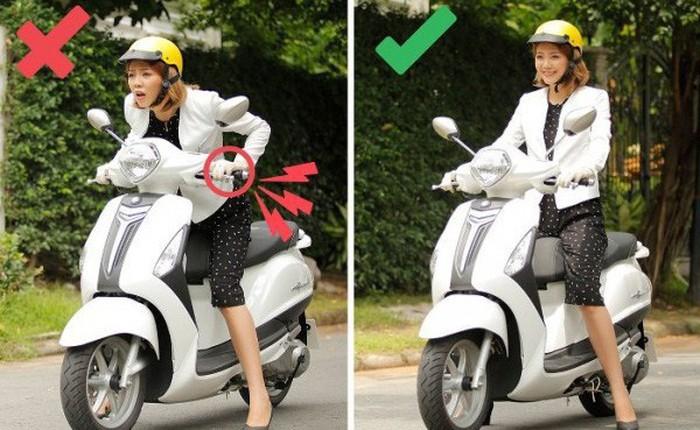 6 sai lầm tai hại khi đi xe máy mà người Việt rất hay mắc phải