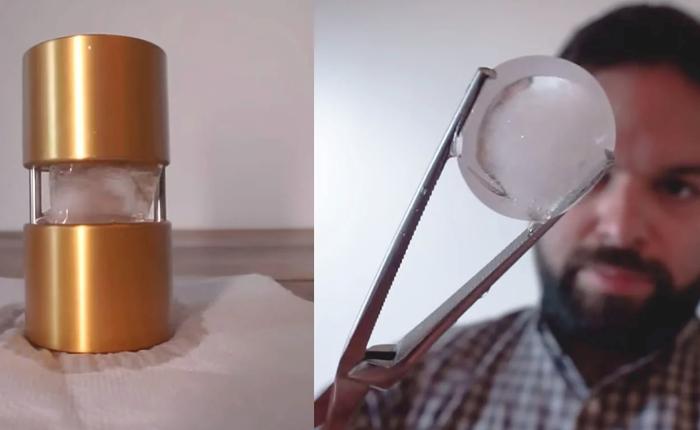 Tạo ống kính máy ảnh bằng... nước đá, tại sao không?