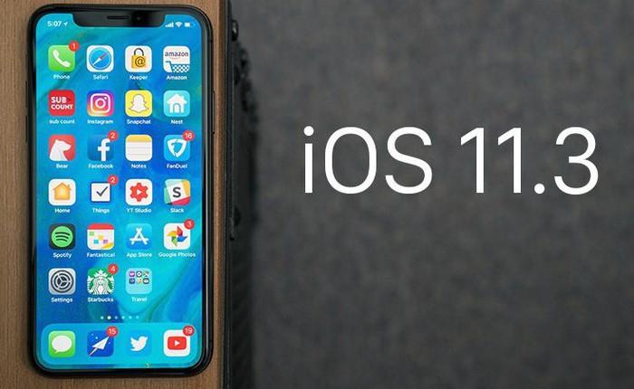 Apple chính thức phát hành iOS 11.3, cho phép người dùng tắt tính năng làm chậm máy khi pin chai, bổ sung thêm Animoji mới, cải thiện pin và hiệu năng