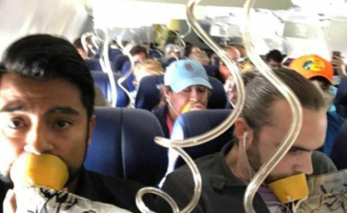 Bức ảnh trong vụ tai nạn máy bay khiến nhiều người ngao ngán: Tại sao gần như không ai đeo mặt nạ oxy đúng cách?