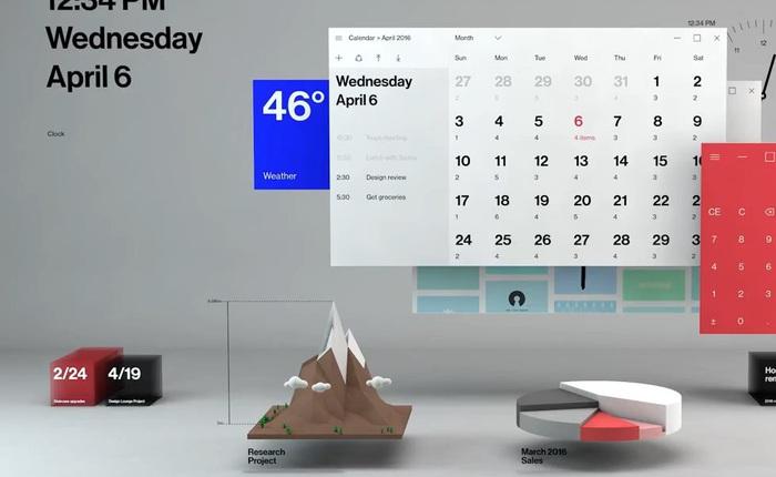 Đoạn video demo sớm về ngôn ngữ Fluent Design trên Windows 10 hé lộ nhiều chi tiết rất đáng chờ đợi