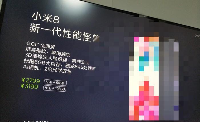 Xiaomi Mi 8 lộ cấu hình: Chip Snapdragon 845, màn hình 6 inch, camera AI, RAM 6GB hoặc 8GB, giá bán từ 439 USD