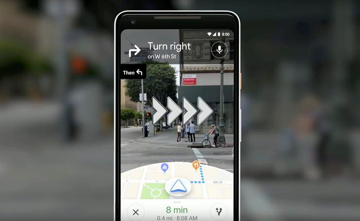 [Google I/O 2018] Google cập nhật tính năng chỉ đường thông qua Camera cho Maps, dân mù đường khỏi lo bị lạc