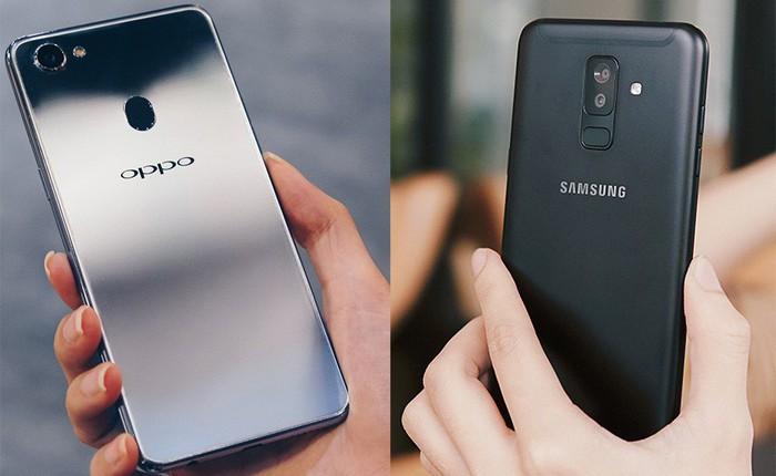 Samsung Galaxy A6+ vs. Oppo F7: 24MP và 25MP, đâu là chuyên gia selfie đích thực?