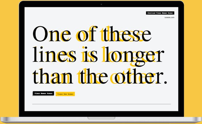 """Font chữ nhái Times New Roman này có thể """"hô biến"""" bài luận của bạn từ ngắn thành dài"""