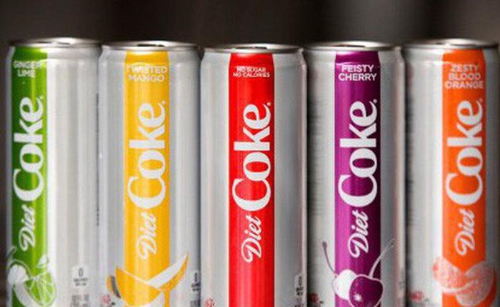 Coca-Cola cải tiến Diet Coke với kiểu dáng khác lạ