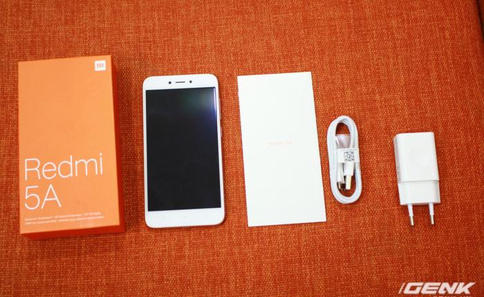 Trên tay Xiaomi Redmi 5A phiên bản Global: Thiết kế quen thuộc, màn hình HD 5 inch, chip Snapdragon 425, RAM 2GB, pin 3.000 mAh cùng hệ điều hành MIUI 9.1