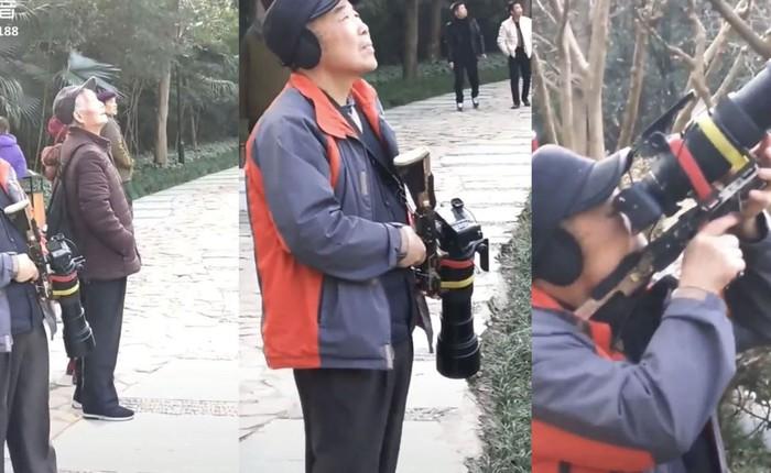Nhiếp ảnh gia chất: Độ máy ảnh giống một chiếc súng trường để đi 'bắn chim'