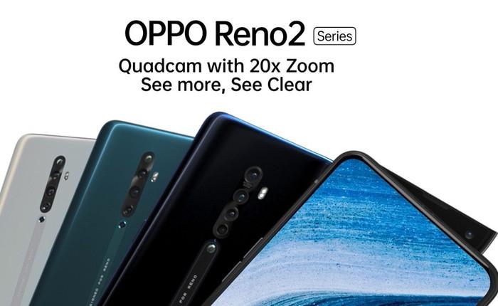 OPPO sắp ra mắt Reno 2: 4 camera sau nhưng đáng chú ý nhất là khả năng quay phim chống rung