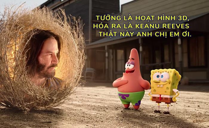 [Vietsub] Keanu Reeves bất ngờ xuất hiện bằng xương bằng thịt trong trailer hoạt hình 3D của cậu bé bọt biển SpongeBob