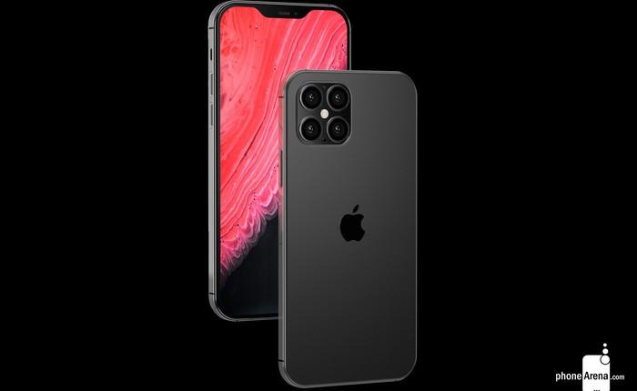 iPhone 12 với thiết kế giống iPhone 4, 'tai thỏ' nhỏ gọn hơn cùng 4 camera ở mặt lưng trông ra sao?
