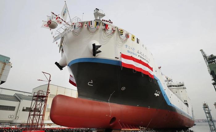 Nhật Bản giới thiệu tàu vận chuyển Hydro lỏng đầu tiên trên thế giới