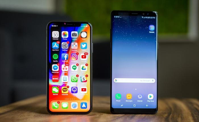 Cùng 1000 USD, cùng 2 năm tuổi, nhưng Galaxy Note 8 đã bị Samsung bỏ rơi còn iPhone X vẫn được cập nhật iOS mới nhất