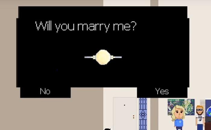 Anh chàng gamer cầu hôn bạn gái lâu năm bằng tựa game pixel mà anh hì hục làm trong suốt 9 tháng