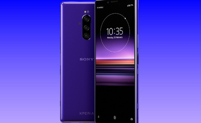 Sony Xperia 1 lộ diện với thiết kế mới, màn hình siêu dài 21:9 và 3 camera sau 52MP