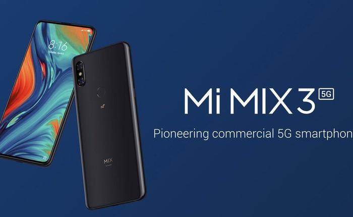 [MWC 2019] Xiaomi công bố phiên bản 5G của flagship Mi Mix 3 với camera trượt