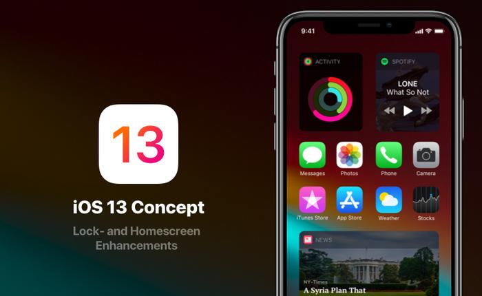 """Cùng ngắm nhìn concept iOS 13 với giao diện hiện đại và """"thanh lịch"""" hơn bản chính chủ rất nhiều"""