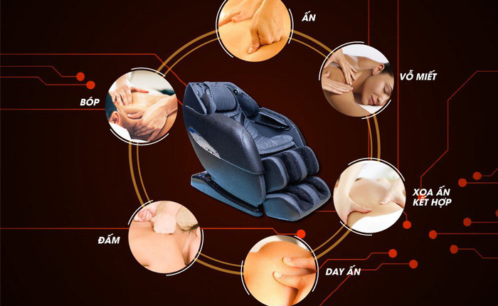 Okusaki tiên phong trong công nghệ ghế massage toàn thân