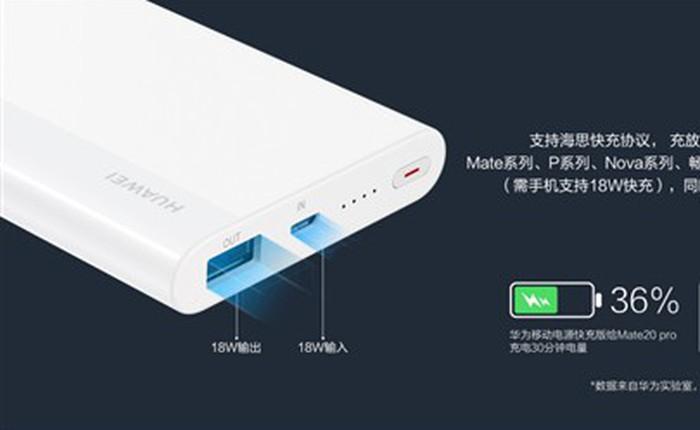 Huawei ra mắt sạc dự phòng 10.000mAh, sạc nhanh 2 chiều 18W, giá từ 350 ngàn