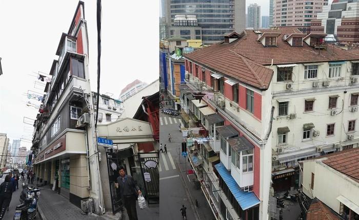 """Cận cảnh cuộc sống lao đao trong toà nhà """"mỏng như tờ giấy"""" ở Thượng Hải"""