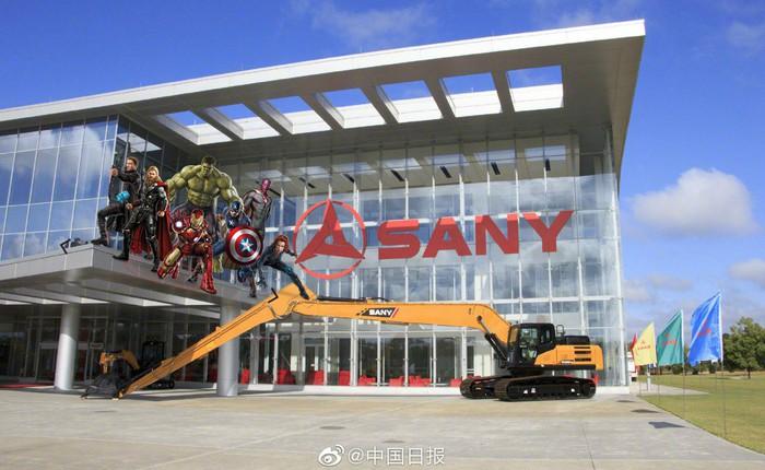 Tổng hành dinh của Avengers trong Endgame thuộc về một nhà sản xuất máy xúc, máy ủi Trung Quốc