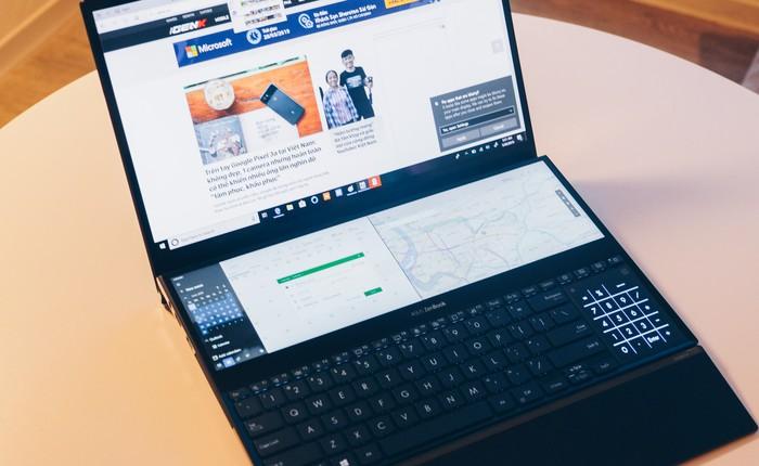 Cận cảnh Asus ZenBook Pro Duo vừa ra mắt với màn hình phụ cực lớn, màn hình chính OLED 4K, chip Core i9