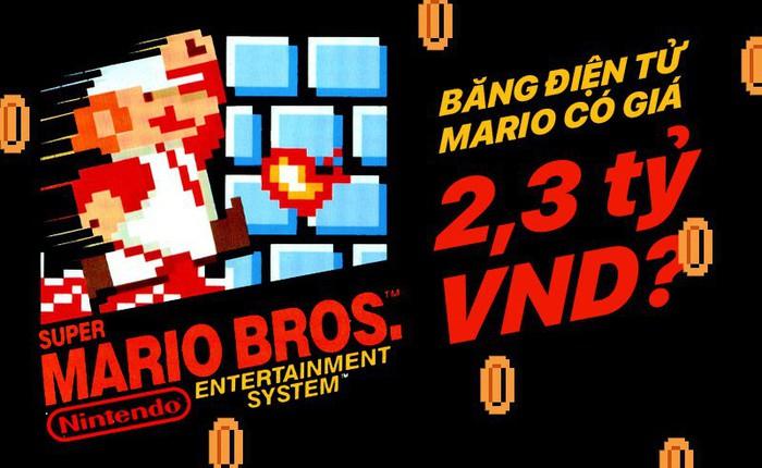 Cái băng điện tử Mario này có gì đặc biệt mà được mua với giá 2,3 tỷ VNĐ?