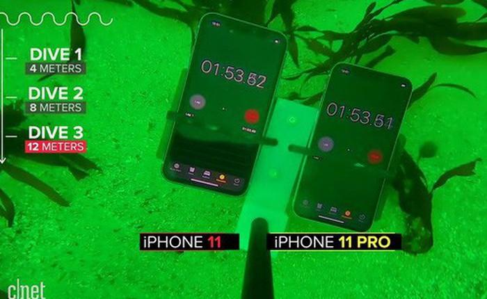 Thử khả năng chống nước của iPhone 11: Ngâm dưới đáy biển sâu 12m trong 30 phút, vẫn 'sống nhăn răng'?