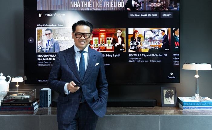 TV Samsung: Tuyệt tác nghe nhìn trong cơ ngơi sang trọng của nhà thiết kế Thái Công