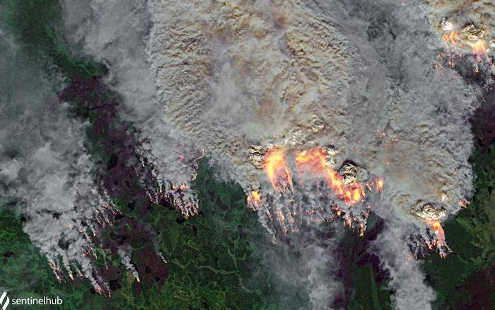 Loạt ảnh thảm họa tự nhiên 2020 qua ảnh chụp vệ tinh: không khác nào địa ngục có thật
