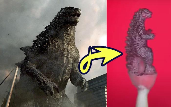 Nghệ nhân tài ba tạo ra Godzilla chỉ bằng 1 hạt gạo, phải dùng cả kính hiển vi để