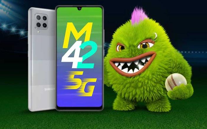 Galaxy M42 5G ra mắt: Phiên bản đổi tên của A42 5G, Snapdragon 750G, pin 5000mAh, giá 6.8 triệu đồng