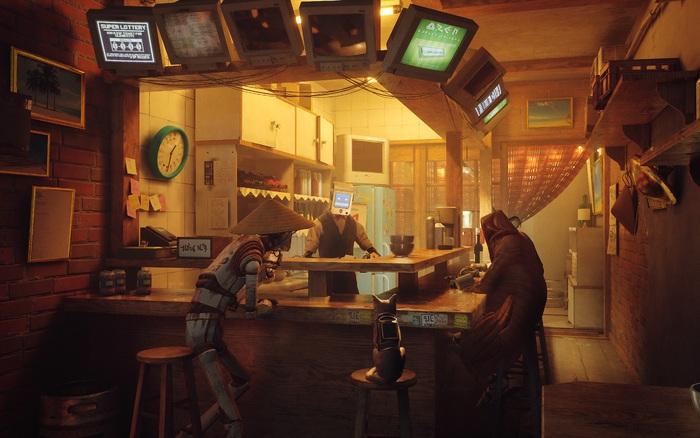 Giới thiệu game Stray: người chơi vào vai một chú mèo, phiêu lưu trong một thành phố robot bị lãng quên - bơi